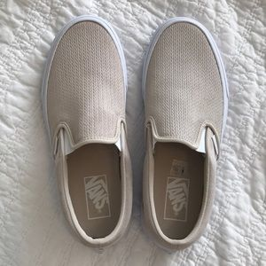 6947d7cde82 Vans Shoes - Vans Classic Slip-On Suede Desert Taupe Women s 8